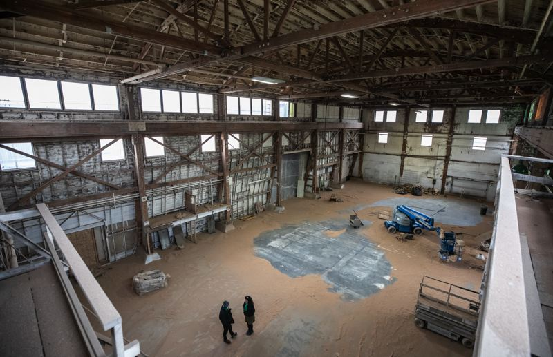 PMG PHOTO: JONATHAN HOUSE - Building 5 in NW Portland is a massive and open warehouse that will be converted for artist use, mainly makers and dancers.