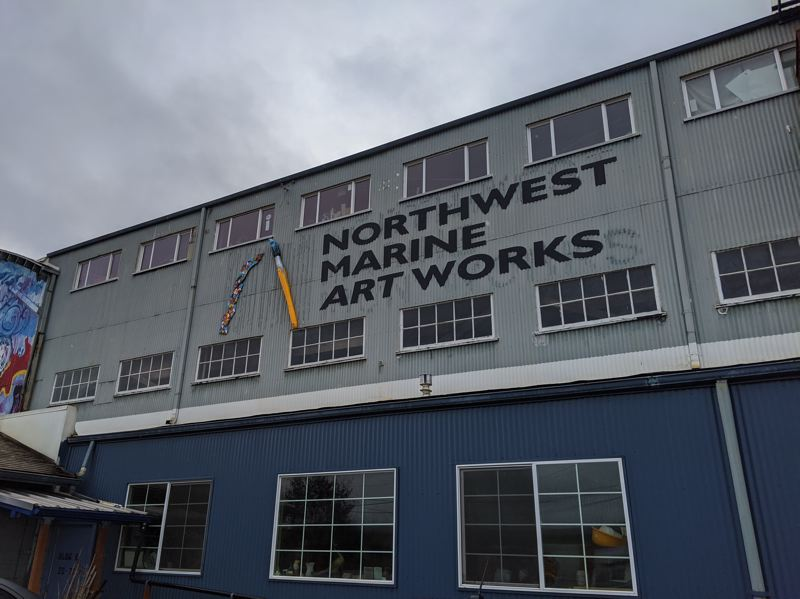 PMG PHOTO: JONATHAN HOUSE - The front entrance of Ken Unkeles Northwest Marine Artworks complex at 2516 N.W. 29th Ave.