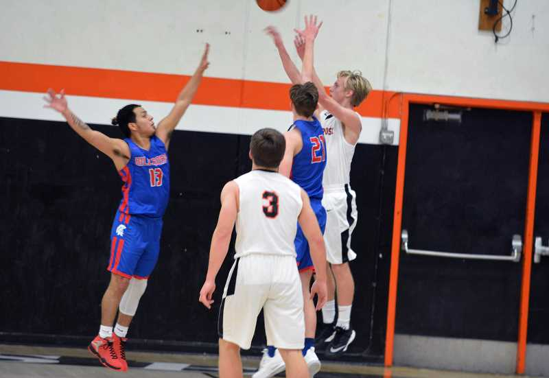 PMG FILE PHOTO - Scappoose boys basketball shooting gaurd Jake Boyle have won three of their last four games.