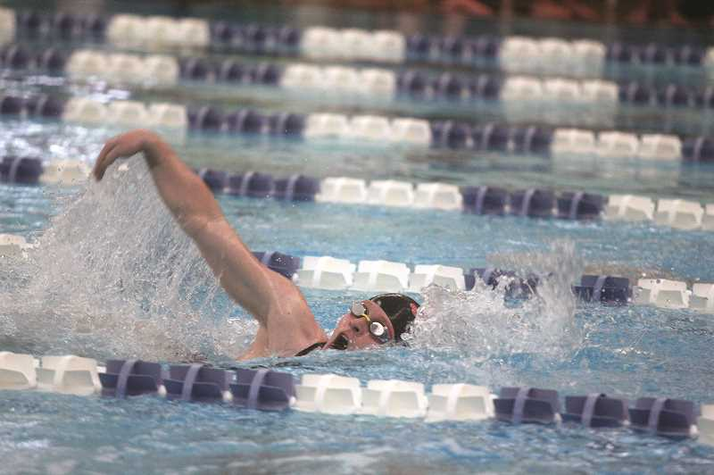 PMG PHOTO: PHIL HAWKINS - Mara Wilson and the Scappoose girls swimming team continue to improve and drop time this year.