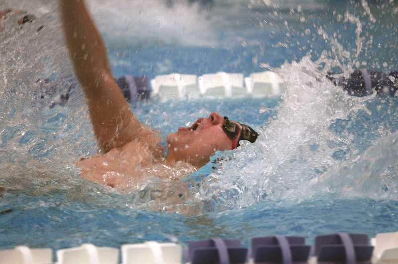 PMG PHOTO: PHIL HAWKINS - Scappoose swimming standout Alex Masog and the Indians took third place overall at the Blanchet Invitational.