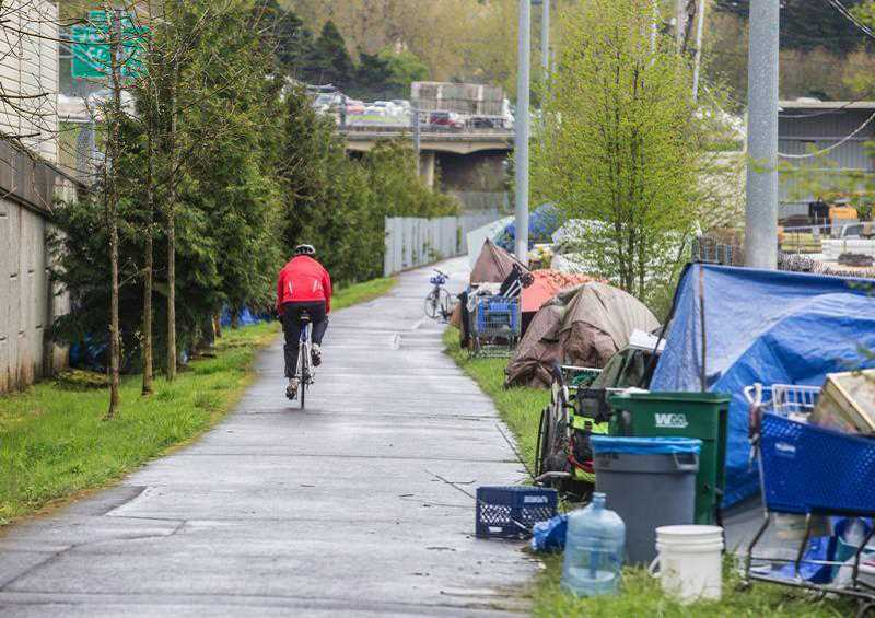 PMG FILE PHOTO - Portland and Salem have been struggling with mounting homeless populations and their and the environmental consequences. Woodburn hopes to be proactive if similar situations develop within that city.