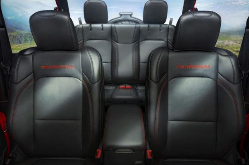 FCS US LLC - The boxy design of the 202 Jeep Wrangler creates a tremendous amount of interior space.
