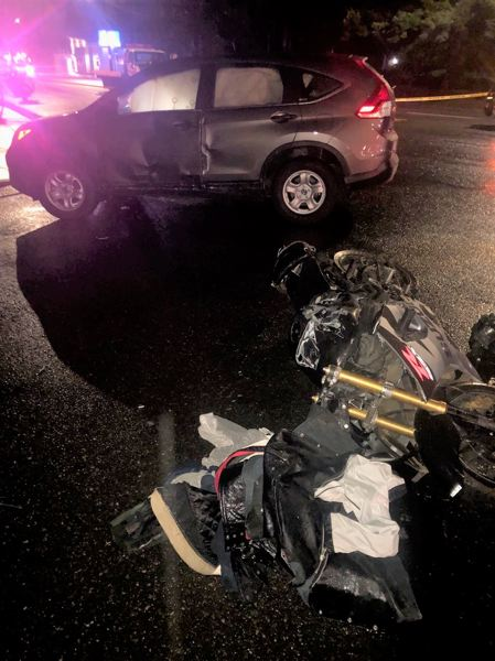PPB PHOTO - A Gresham man was killed in a fatal motorcycle crash, police say.