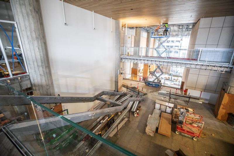 PMG PHOTO: JONATHAN HOUSE - The courthouse will feature a metal-and-glass grand staircase.