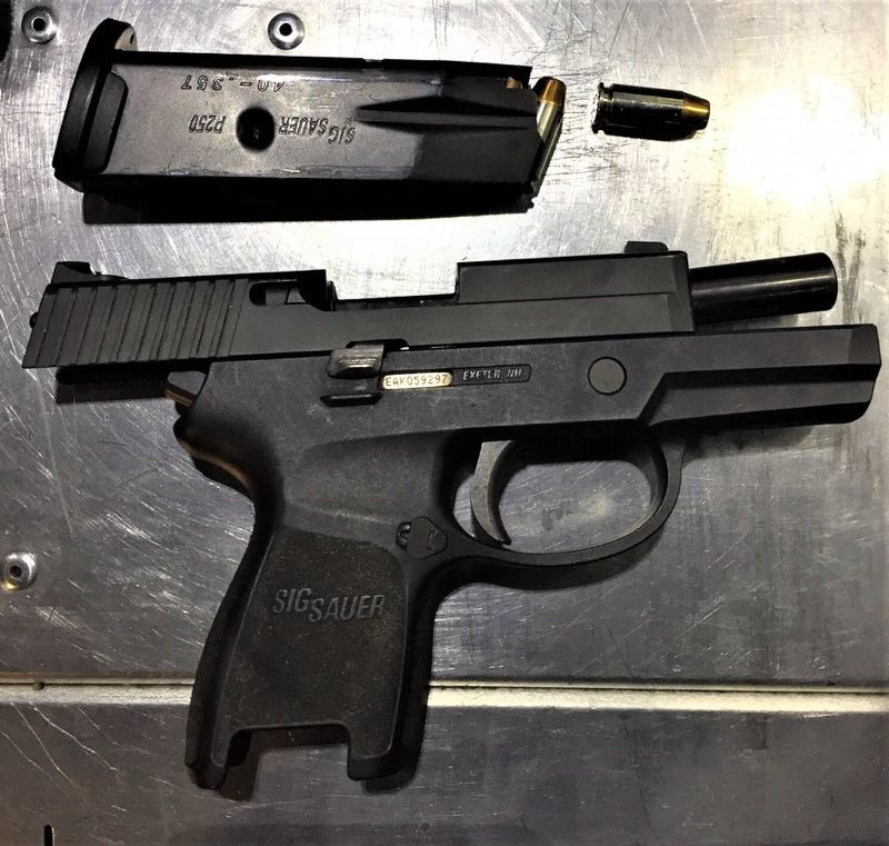 PPB PHOTO - A loaded .40 S&W caliber semiautomatic handgun was recovered during the incident, police say.