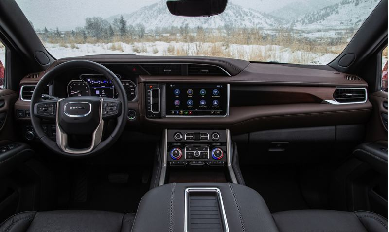COURTESY GMC - Technology is a big part of the Yukon's 2021 update. A best-in-class 15-inch head-up display projects navigation, infotainment, and critical driver information onto the windshield, helping keep the driver's eyes on the road ahead.