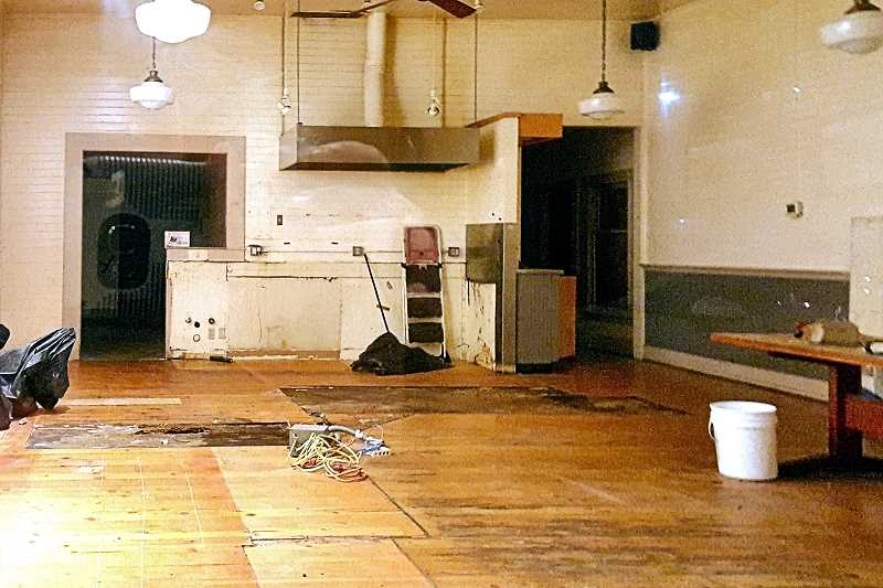 SANDY HUBBARD - During its January repair, the Sellwood Grand Central Bakery stripped out the interior for remodeling and updating.