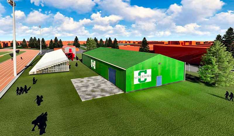 COURTESY OF CLEVELAND HITTING FACILITY - The new Cleveland High baseball Hitting Facility will help all Portland area public school baseball programs, organizer say.