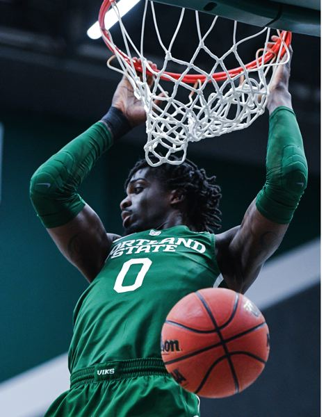 COURTESY PHOTO: PORTLAND STATE UNIVERSITY - Sal Nuhu's double-double helped the Portland State Vikings get a win over Weber State.
