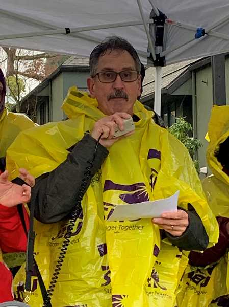 Wade Johnson, an SEIU bargaining team member and an employee at the hospital, attends the Jan. 10 rally.