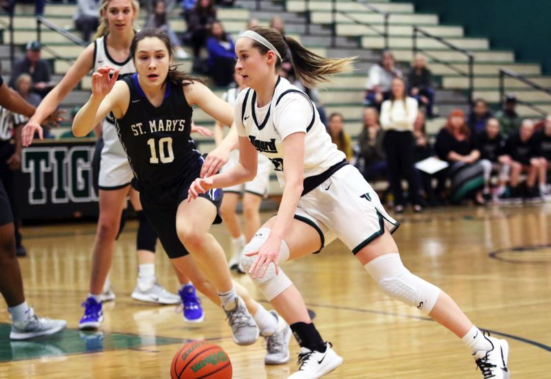 Tigard girls tipped by St. Mary's rally