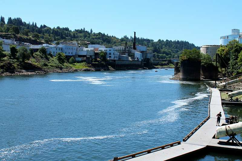 PMG FILE PHOTO - The City of West Linn has talked about developing the waterfront area along the Willamette River for 30 years, and on Tuesday, Jan. 22, discussed a method for financing such a project.