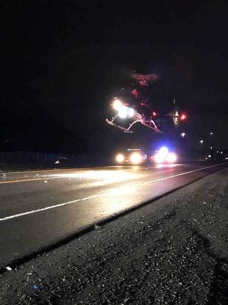 COURTESY PHOTO: CCSO - A Life Flight helicopter transported Kelsie Martin to OHSU Jan. 22.