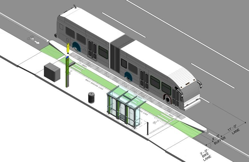 COURTESY TRIMET - An example of the enhanced stations that will be built along Division between Portland and Gresham.