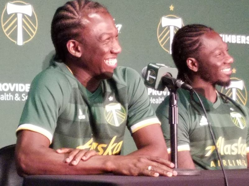PMG PHOTO: PAUL DANZER - Diego Chara (left) is joined this season on the Portland Timbers by brother Yimmi.