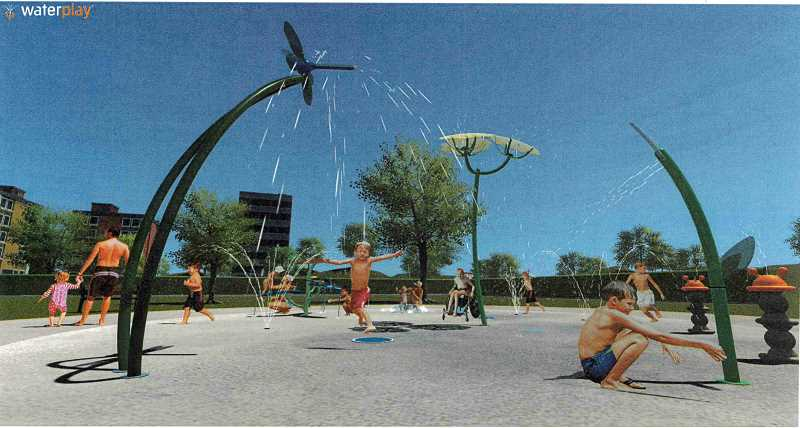 COURTESY PHOTO: CITY OF CANBY - Canby City Council has decided on a design for the town's splash pad, expected to be ready for splashers by Memorial Day.