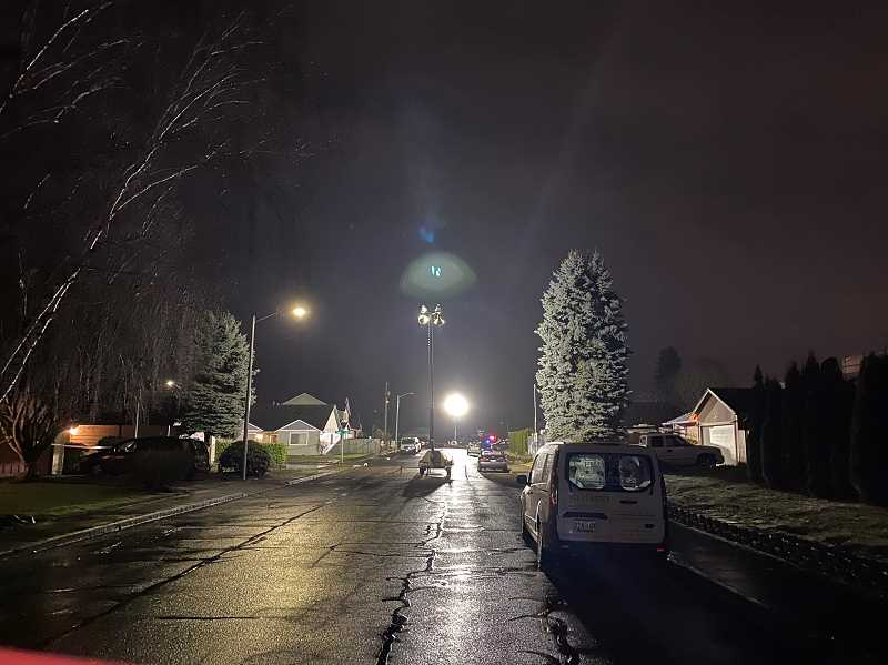 COURTESY OF MARION COUNTY SHERIFFS OFFICE - Deputies on scene in east Salem where a three-way shooting on Jan. 21 sent a Woodburn man to the hospital where he succembed to his injuries less than two days later.