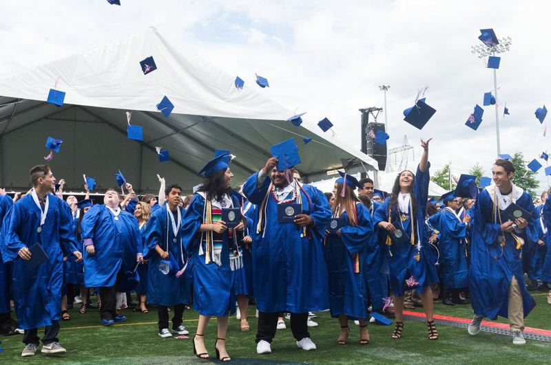 PMG PHOTO: CHRISTOPHER OERTELL - Hillsboro High School students at a graduation ceremony in 2017.