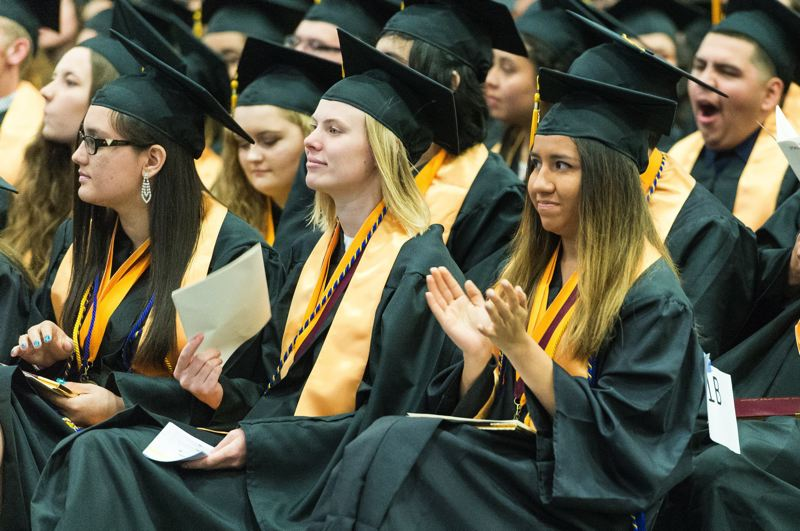 PMG PHOTO: CHRISTOPHER OERTELL - Forest Grove High School students at a graduation ceremony in 2017.