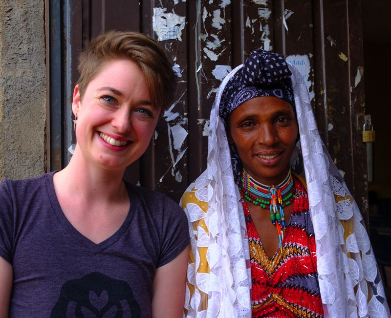 COURTESY: CATALYST TRADE - ON THE COVER: (L-R) Emily McIntyre, CEO of Catalyst Trade, and Shemsi Tuna, female farmer in Gololcha, Harar. This was taken in the Gololcha administrative capital of Chancho in February 2018. Catalyst Trade is a green coffee importer. McIntyre was at a recent Oregon Entrepreneurs Network talk about alternative funding as her company seeks to expand by borrowing or equity. THIS PAGE: Attendees at the recent OEN talk about alternative funding for businesses.