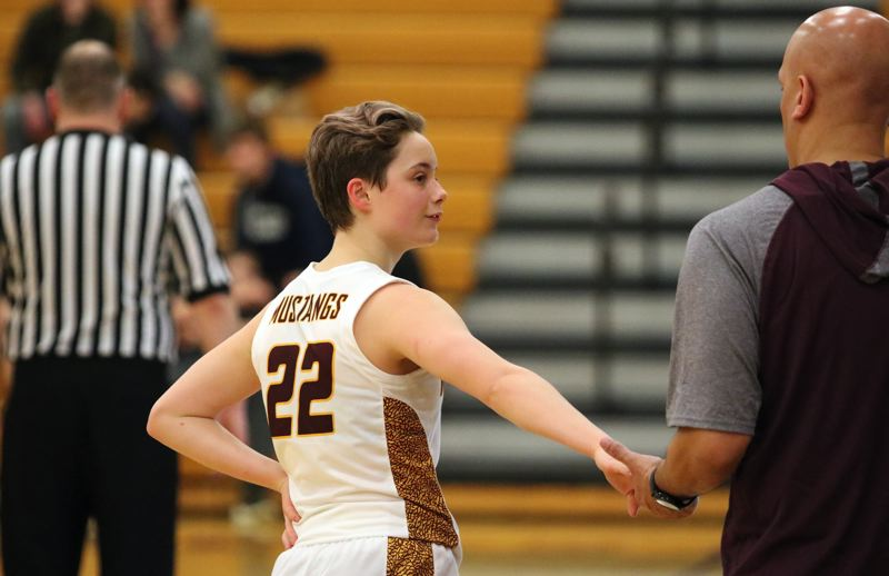 PMG PHOTO: JIM BESEDA - In 13 games this season, Milwaukie's Cali Denson has scored 385 points - and average of 29.6 points a game.