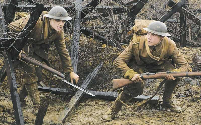SUBMITTED PHOTO - Dean-Charles Chapman (left) and George MacKay star in '1917,' which was released across the country on Jan. 10.