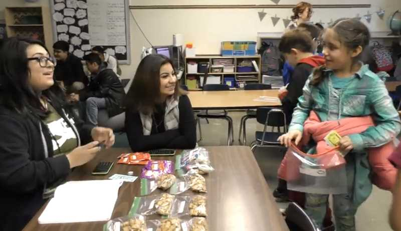 WOODBURN SCHOOL DISTRICT - A unique, collaborative lesson involving Success High School students and third graders from Lincoln Elementary School educated the former group about the entrepreneural process and the latter about being consumers and budget-guided decision making.