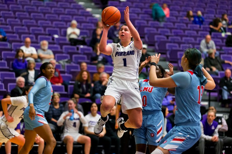 COURTESY PHOTO: UNIVERSITY OF PORTLAND ATHLETICS - Kate Andersen continued her strong senior season with 19 points in Thursday's win over Loyola Marymount.