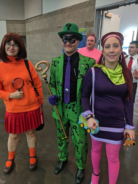 PMG PHOTO: JOHN BAKER, SORCERER SUPREME, CANBY DIVISION - And the Riddler would have gotten away with it, too, if it hadn't been for you meddling teens and your dog.