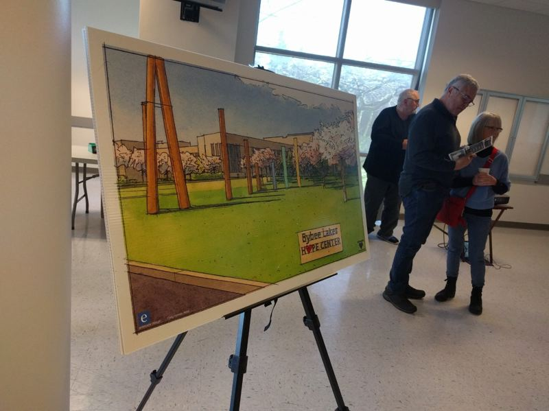 PMG PHOTO: JIM REDDEN - One of many rendering of what the Bybee Lake Hope Center will look like contributed to the project by architect Stuart Emmons.