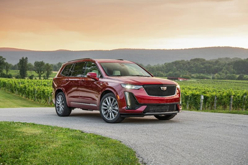 COURTESY CADILLAC - The all-new 2020 Cadillac XT6 is a three-row luxury SUV that can be ordered with sport upgrades tht result in a surprisngly nimble ride.