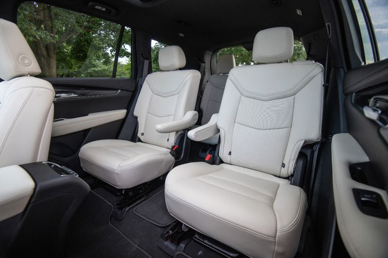COURTESY CADILLAC - The second row of seats in the 2020 Cadillac XT6 can be ordered as a bench for three or captain's seats for two.