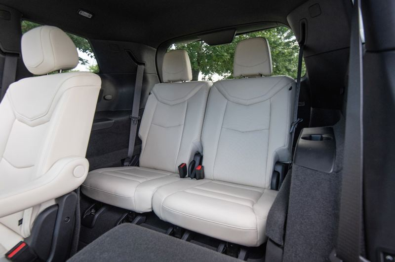 COURTESY CADILLAC - Two adults can actually ride comfortably in the third row in the 2020 Cadillac XT6.