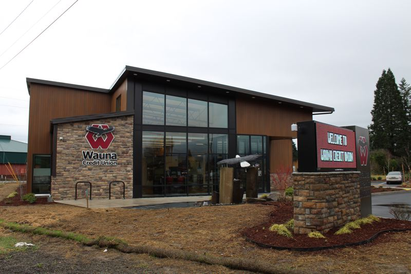 PMG PHOTO: MAX EGENER - Wauna Credit Union opened its Forest Grove branch in December., Forest Grove News-Times - News The credit union is on a long-vacant lot at the highway junction. City officials hope other vacancies won't last. Wauna Credit Union opens in Forest Grove, other vacancies remain