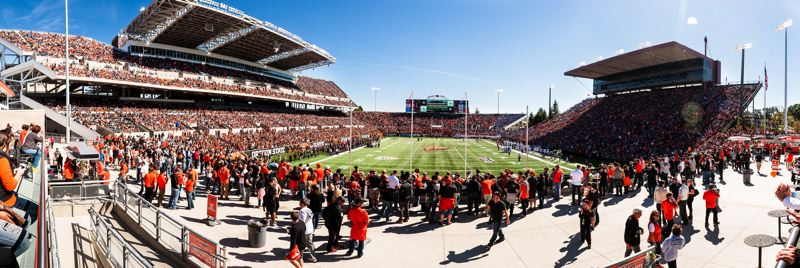 COURTESY: OREGON STATE UNIVERSITY/KARL MAASDAM - As part of a feasilbity study related to a modernization of the the westside of Reser Stadium, Oregon State University has issued a request for proposals for design and construction services.