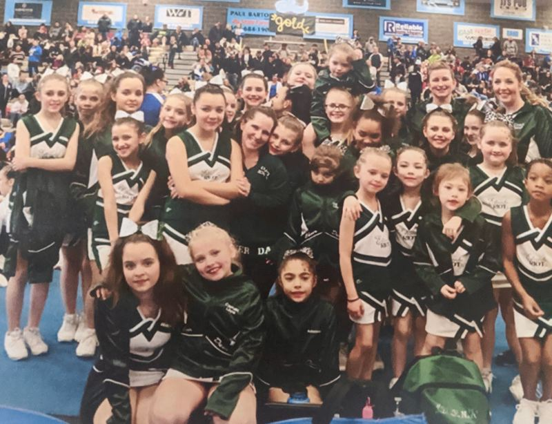COURTESY PHOTO - The Estacada Youth and Junior RIOT Cheer and Dance teams have enjoyed their first season in town.
