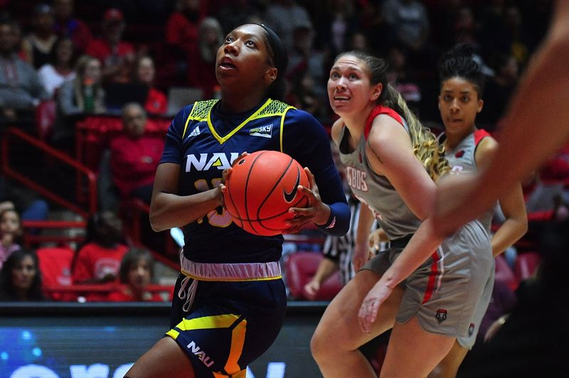 COURTESY PHOTO: NORTHERN ARIZONA UNIVERSITY - Khiarica Rasheed, a junior forward from Grant High, has been a key player for Northern Arizona.