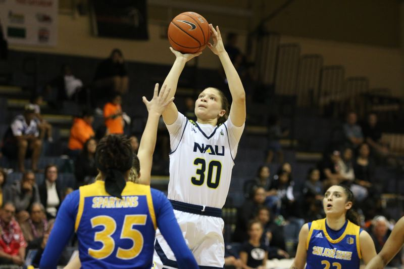 COURTESY PHOTO: NORTHERN ARIZONA UNIVERSITY - Transfer Nina Radford, from Grant High, has given the Lumberjacks of NAU a lift this season.