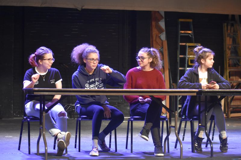 PMG PHOTO: EMILY LINDSTRAND - In Estacada High School's production of Cafe Murder, the audience will be able to cast their vote about who they suspect as the purveyor of the crime.