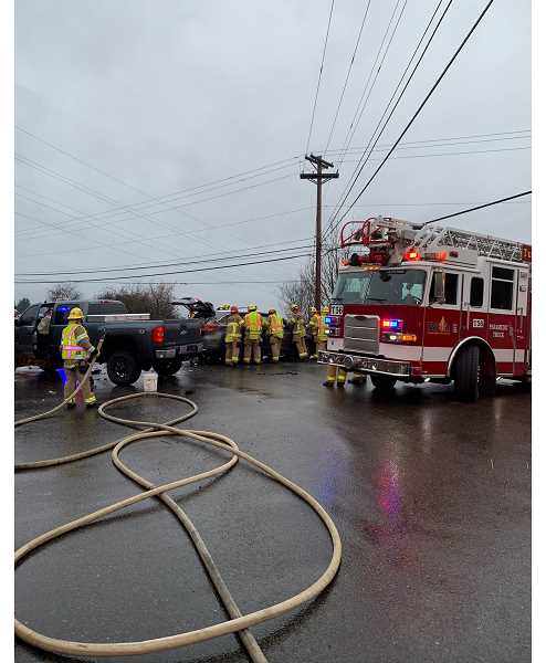 COURTESY PHOTO: TVF&R - The two-vehicle crash took place Monday, Jan. 27.