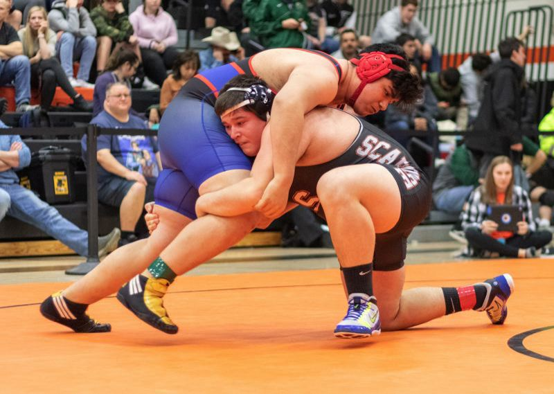 PMG FILE PHOTO - Scappoose 285-pound wrestler Cutter Sandstrom has started this season on fire for the Indians.