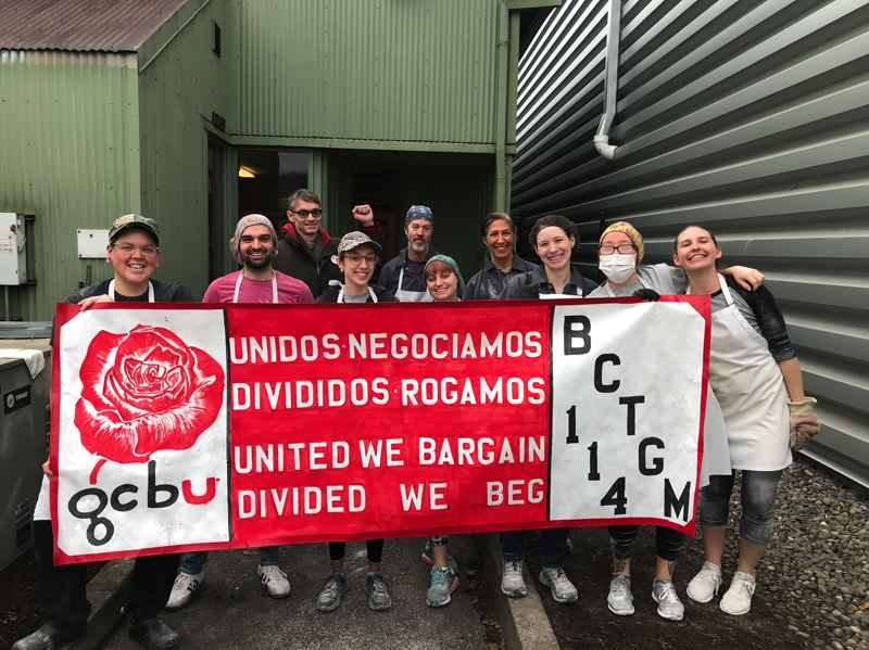 SUBMITTED PHOTO - Workers at the Grand Central Bakery Portland production facility voted to unionize in December, spurred by concerns related to on-the-job sexual harassment and repetitive motion injuries.