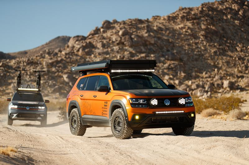 COURTESY VOLKSWAGEN - The Volkswagen Atlas Adventure Concept is built for off-road travel and camping.