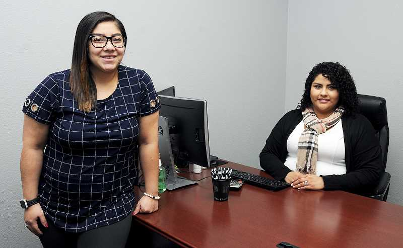 GRAPHIC PHOTO: GARY ALLEN - Sandra Diaz Vazquez (left) and Natallie Brambila have joined forces to form Diaz & Brambila Tax Services at 120 N. Everest Road Suite A in Newberg.