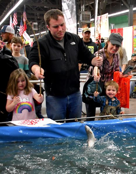 COURTESY PHOTO - The Baxter Kids Trout Pond is a popular attraction at the Pacific Northwest Sportsmen's Show.