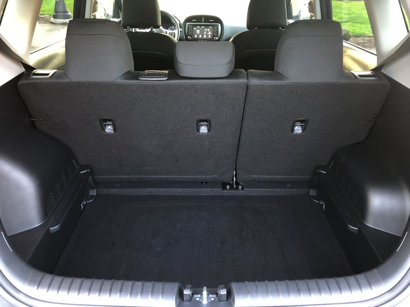 PMG PHOTO: JEFF ZURSCHMEIDE - The 2020 Kia Soul offers a good amount 0f cargo space, and even more with the rear seats folded down.
