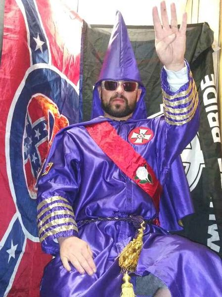 COURTESY PHOTO: STEVEN SHANE HOWARD - Steven Shane Howard, a former Imperial Wizard for the North Mississippi White Knights of the Ku Klux Klan currently is living in Vancouver, has attended Patriot Prayer rallies. He now hopes to stage his own local events.