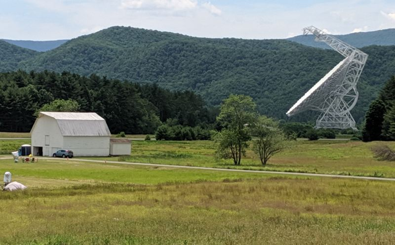 COURTESY PHOTO: PAT HANRAHAN  - With its 328-foot diamter, the Robert C. Byrd Green Bank Telescope in West Virginia is the worlds largest fully steerable radio telescope. Instead of capturing visible light, it reads very weak radio signals to making its discoveries and has been used to create a map of the radio sky.