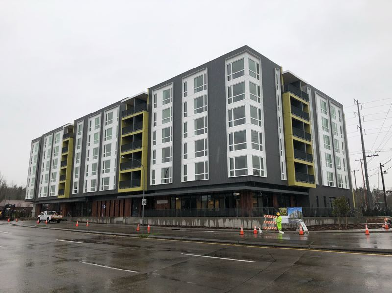 PMG PHOTO: STEPHANIE BASALYGA - Willow Creek Crossing apartment building is located near Portland Community Colleges Willow Creek campus and a MAX light-rail station in Hillsboro. A grand opening will be held in early February.